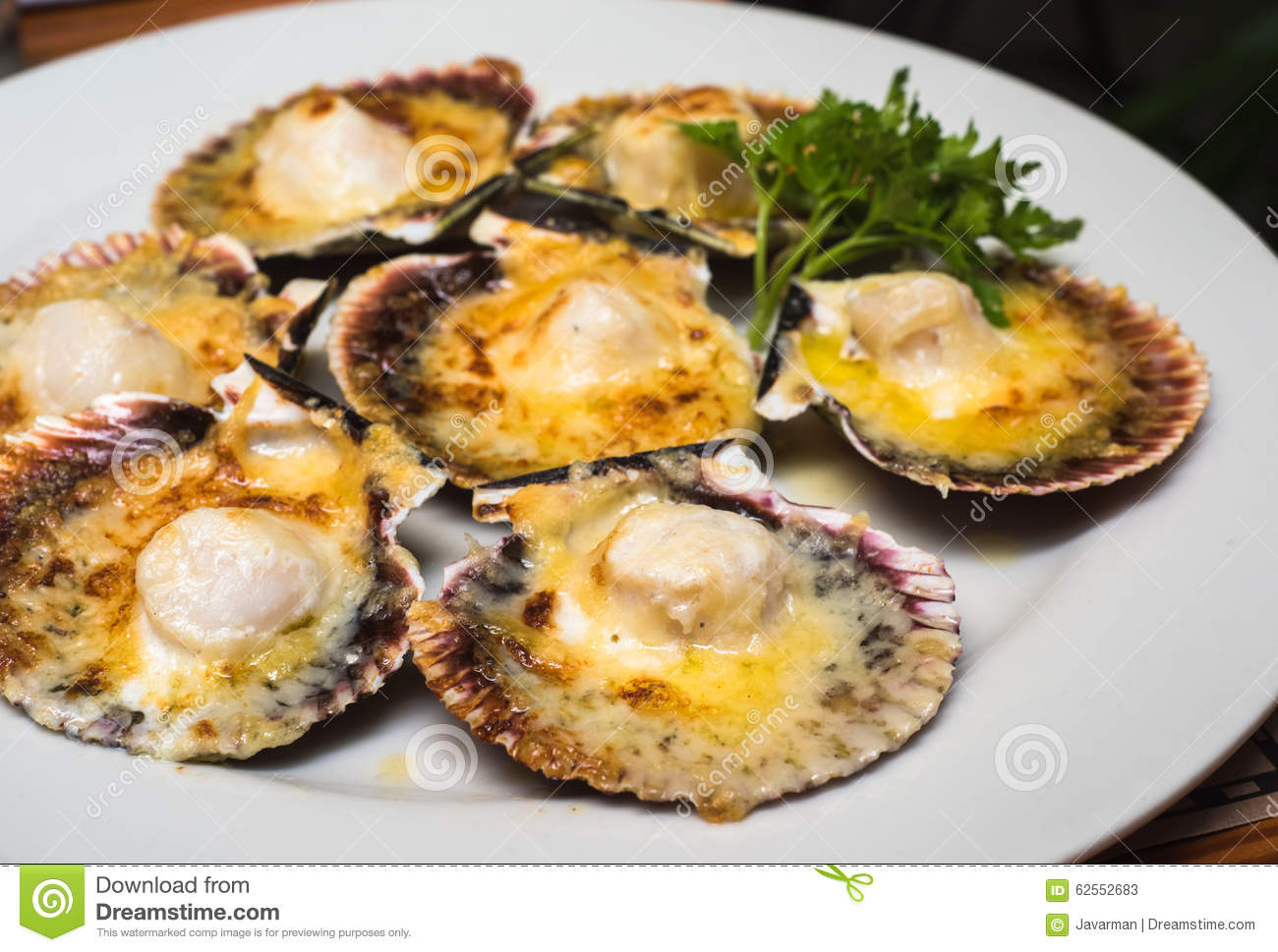 broiled scallops bread crumbs