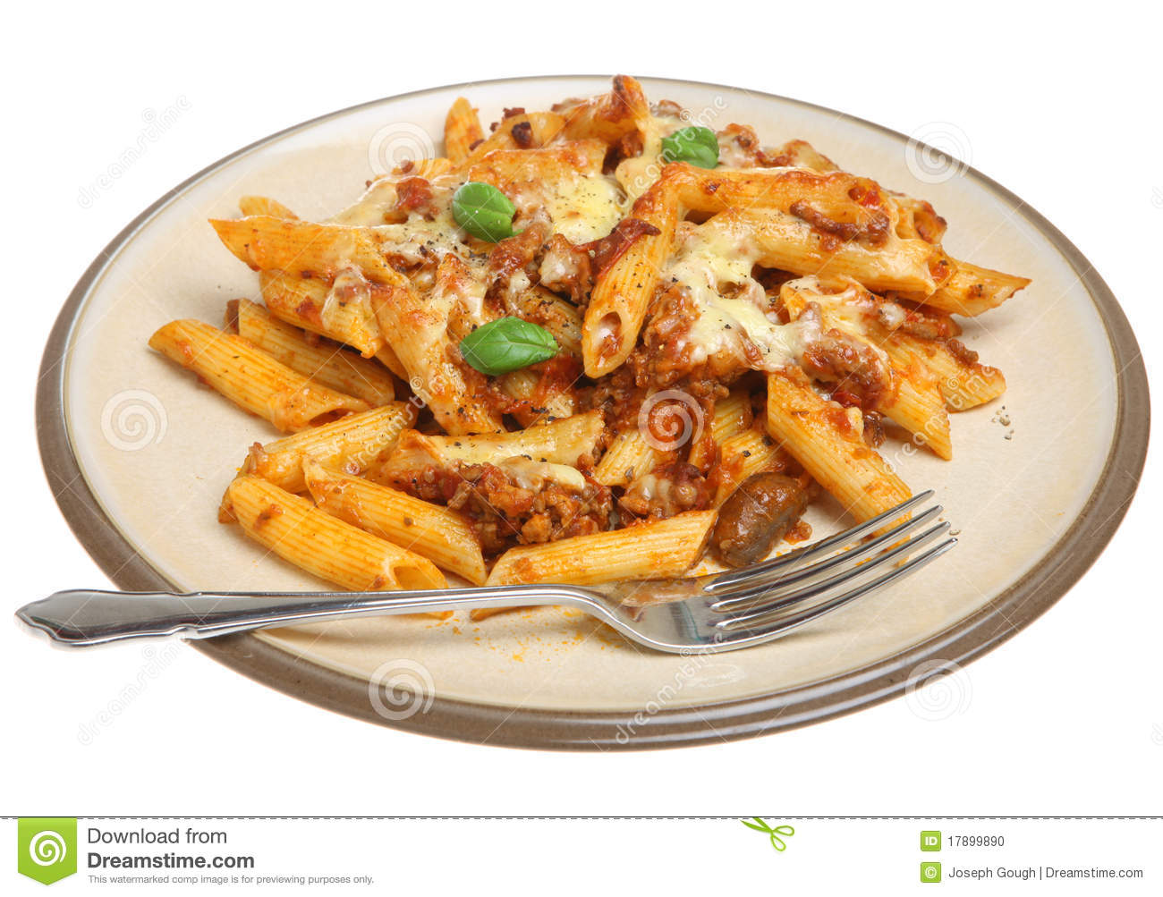 Baked Pasta With Bolognese Sauce Stock Photo - Image: 17899890