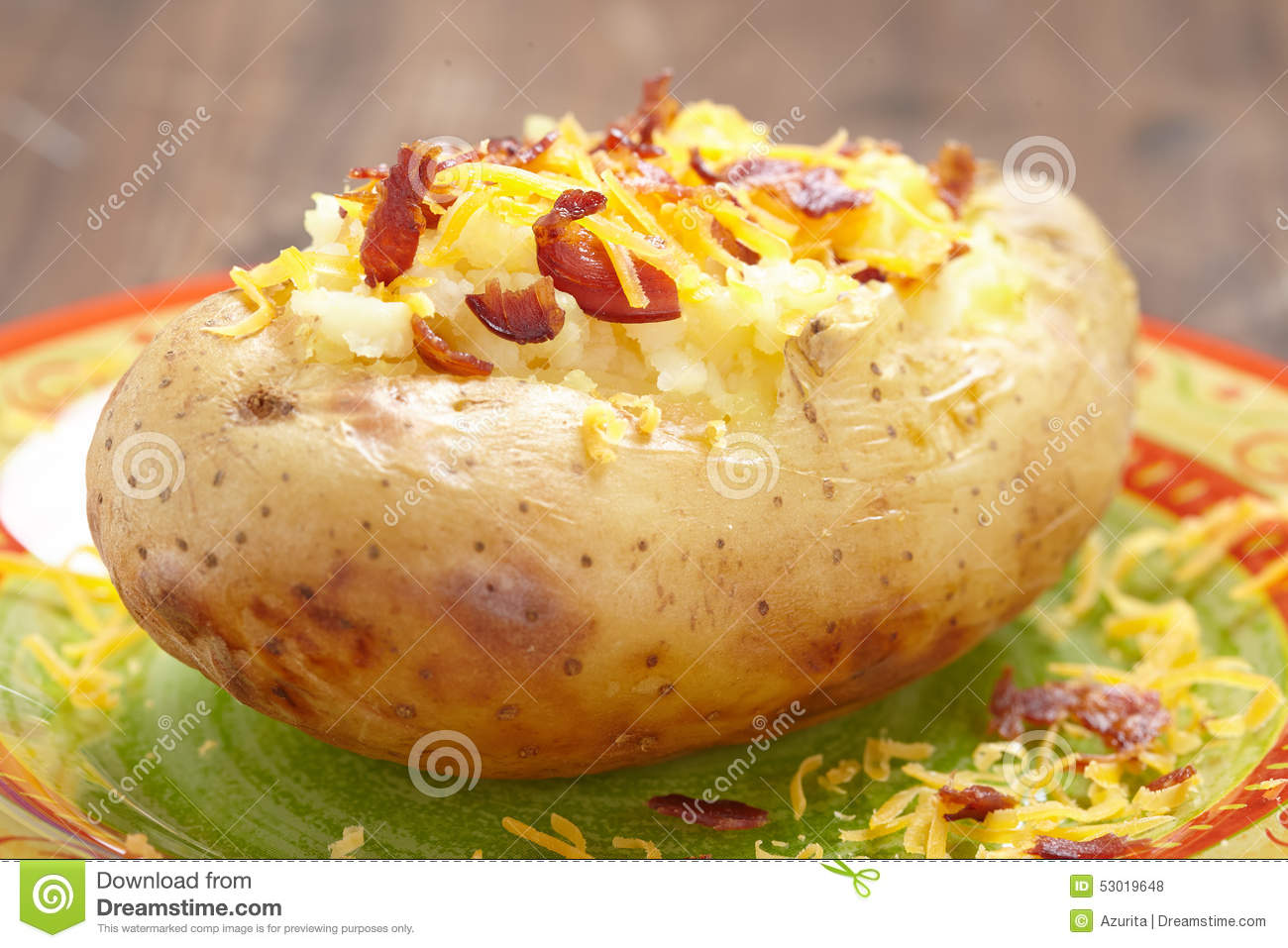 Baked Potato Stock Photo - Image: 53019648