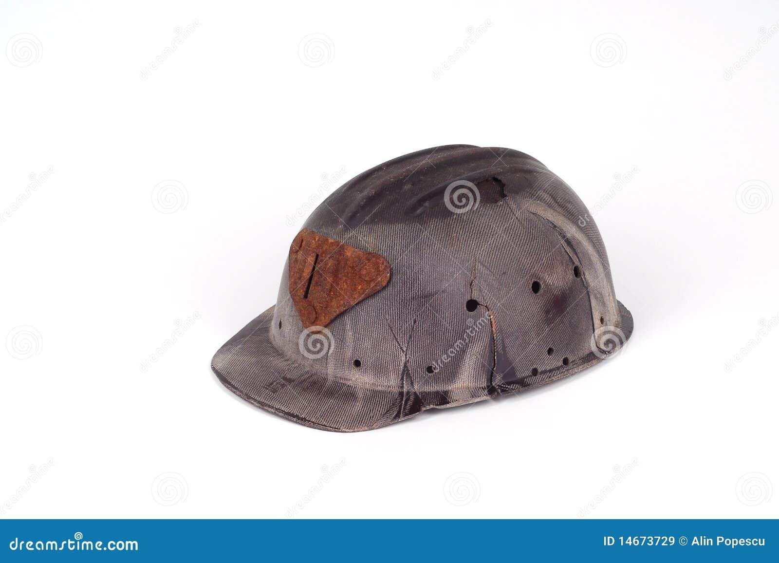Bakelite helmet of a miner