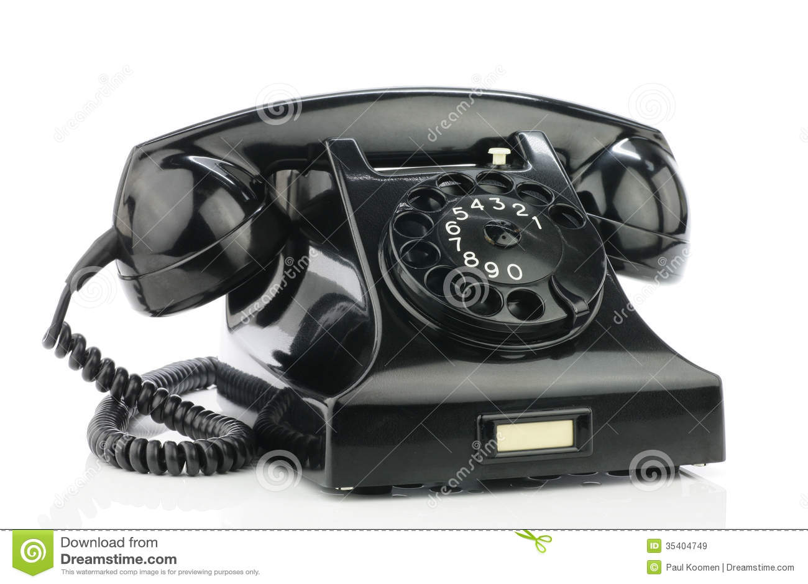Telephone 1950 Bakelite Phone Royalty Free