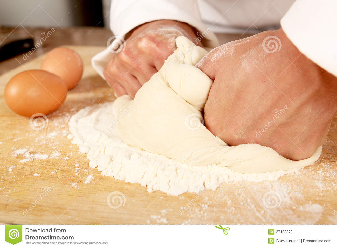 Baker Kneading Dough Stock Photos - Image: 27182373