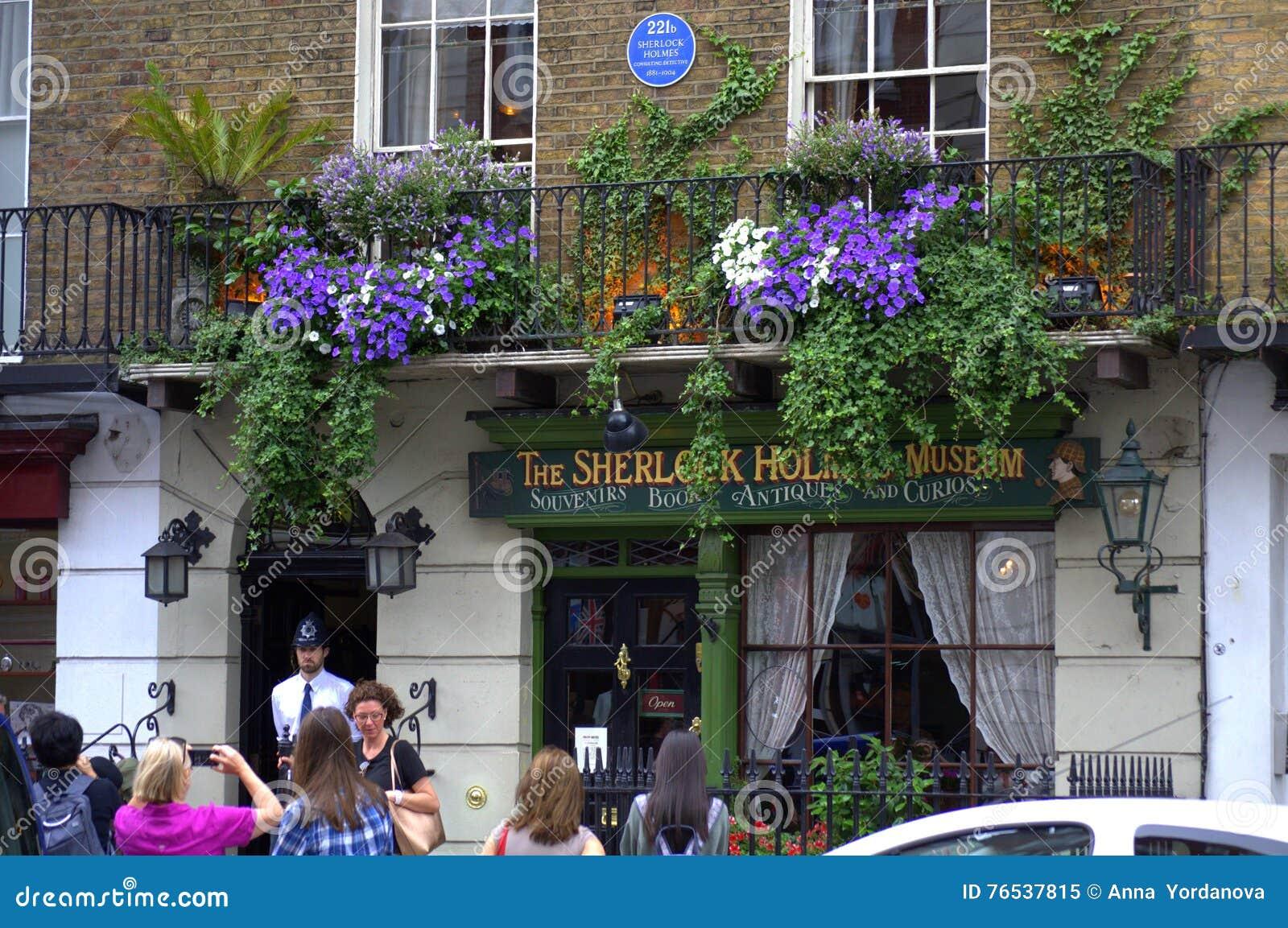 Baker Street London de musée de Sherlock Holmes
