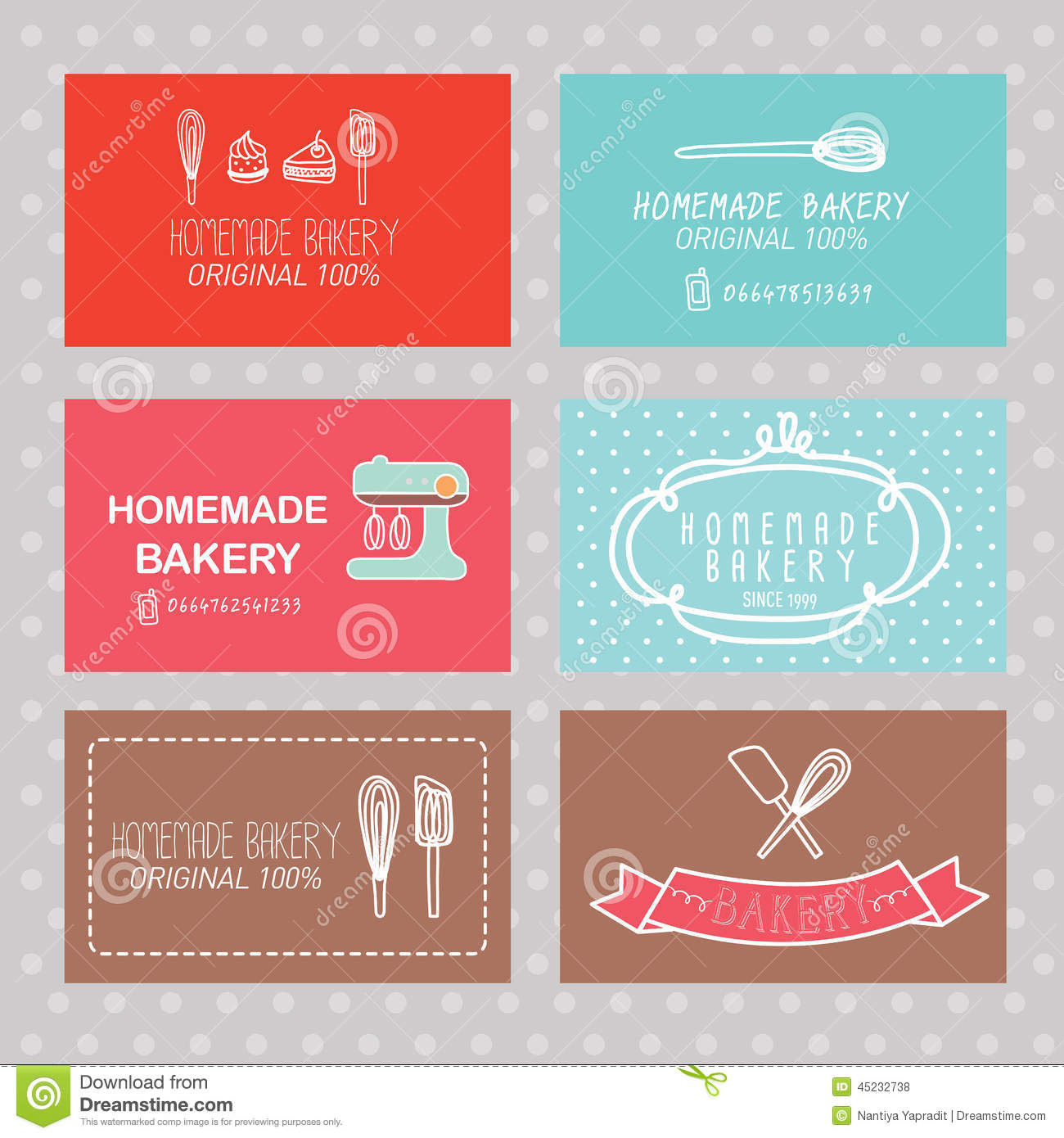 Bakery business card stock vector illustration of frame 45232738 bakery business card reheart Gallery