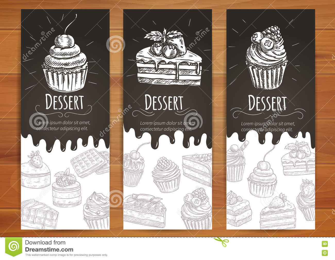 Bakery, confectionery, pastries, desserts poster