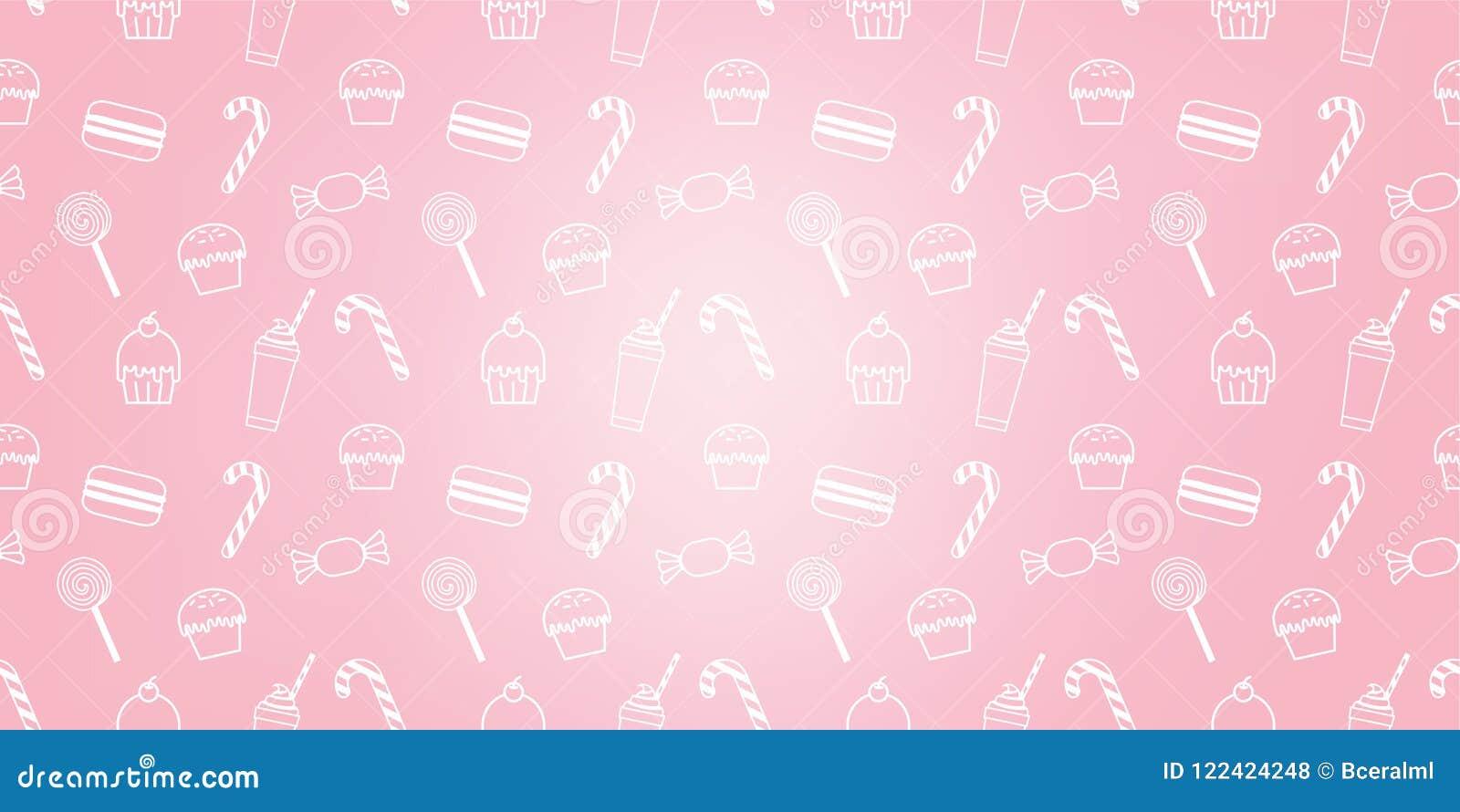 Bakery Cute Cupcake Candy Milkshake Macaroon Sweet Pink Icon Cafe