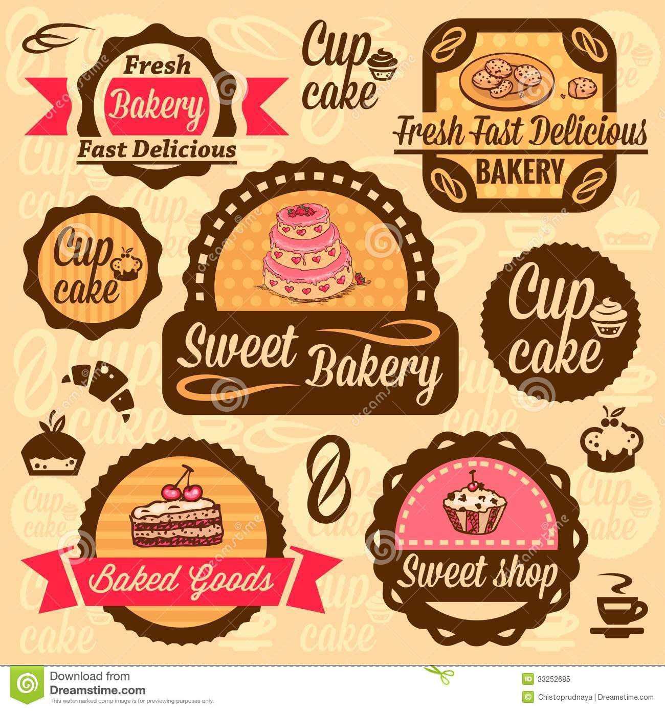 Free Design Cookies And Cake Label
