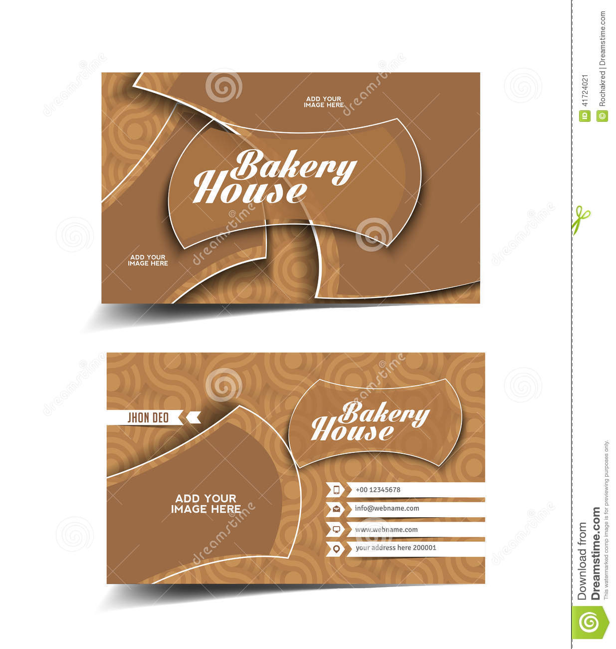 Bakery house business card stock vector illustration of identity bakery house business card colourmoves