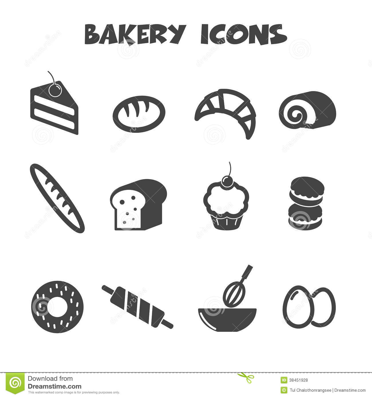 Bakery Icons Royalty Free Stock Photos - Image: 38451928