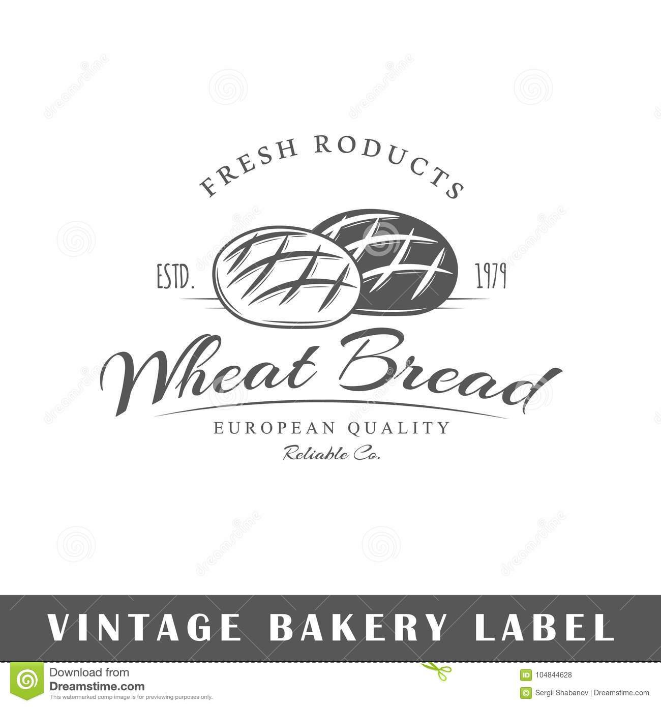 Bakery label isolated on white background design element template for logo signage branding design vector illustration