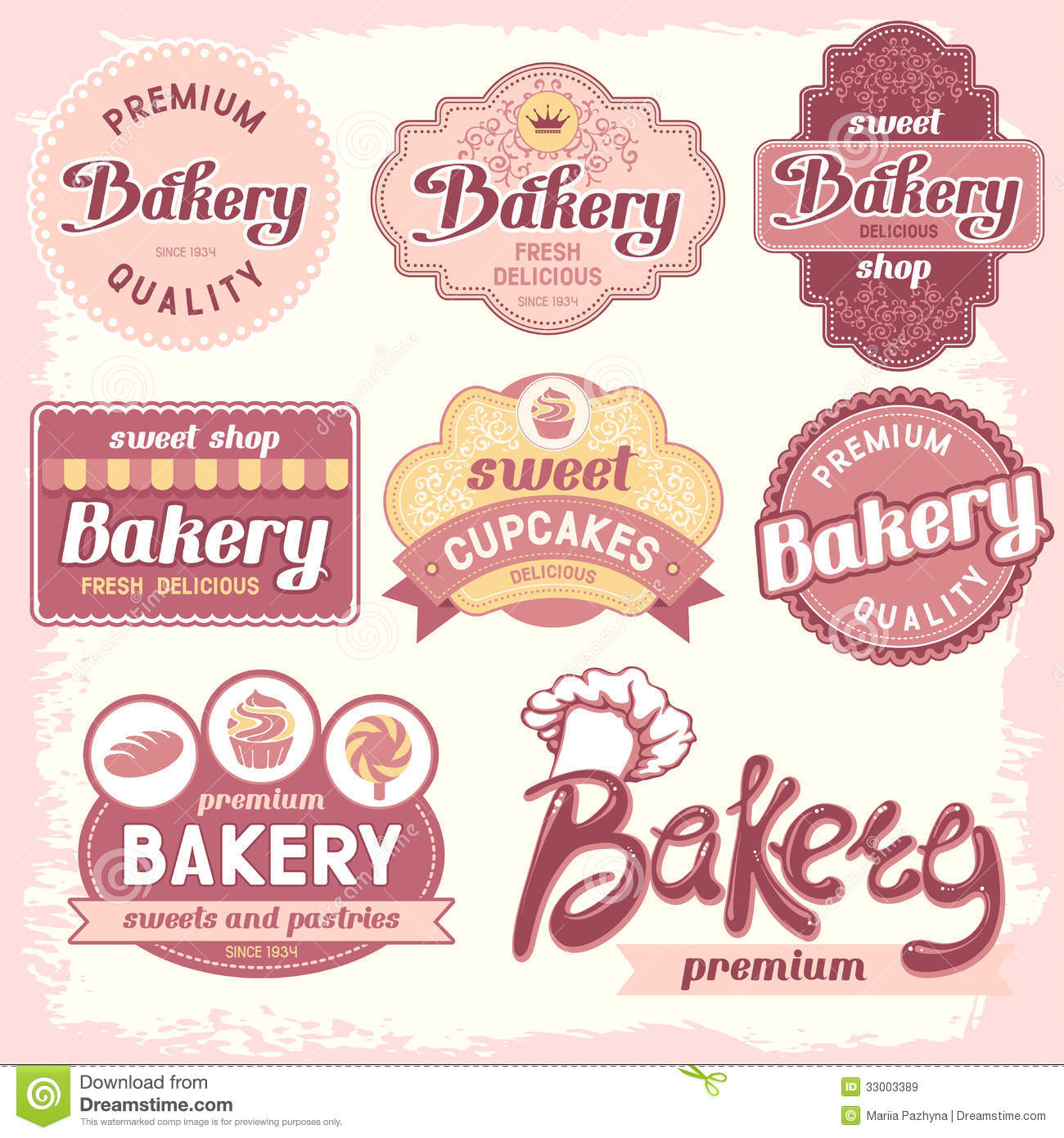 Bakery Labels Royalty Free Stock Images - Image: 33003389