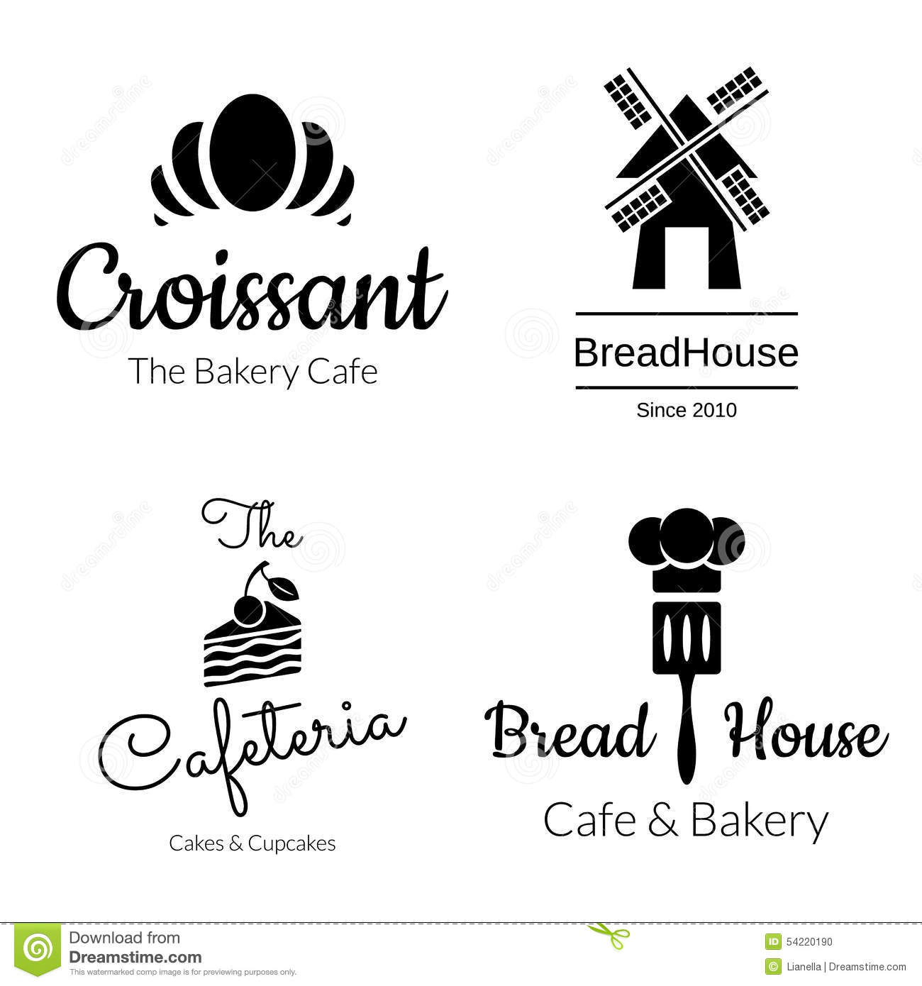 Wedding Cake Bakery Logos