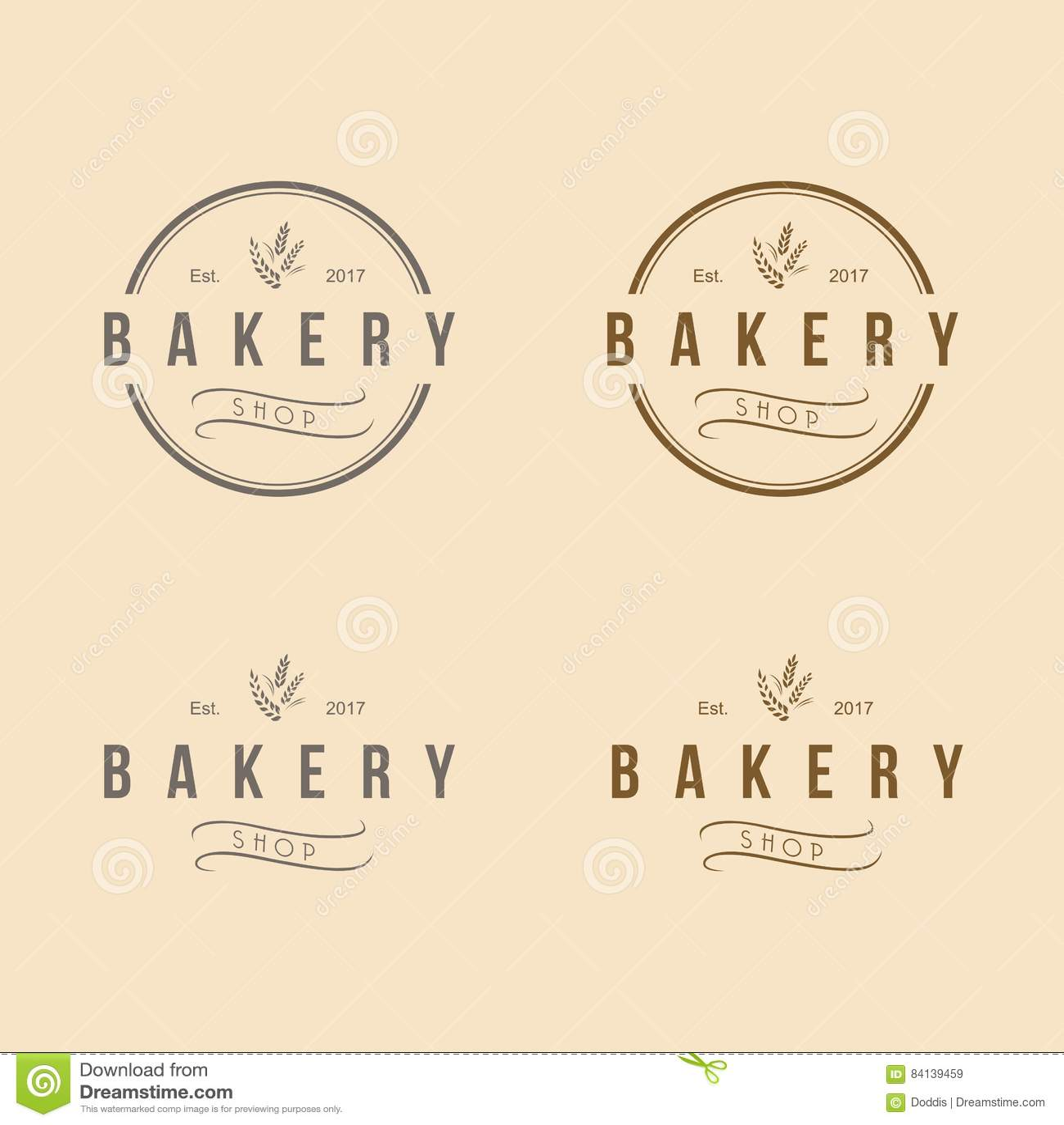 Bakery logo vintage retro design vector template stock vector bakery logo vintage retro design vector template royalty free vector pronofoot35fo Choice Image
