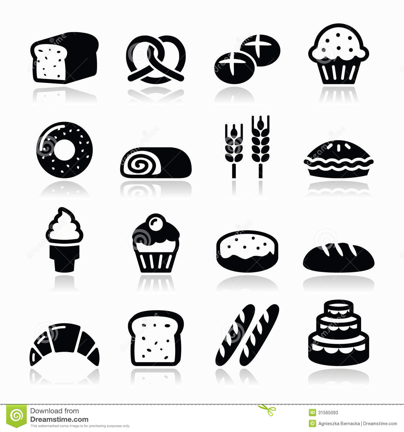 Bake Cake Vector Black And White Donuts