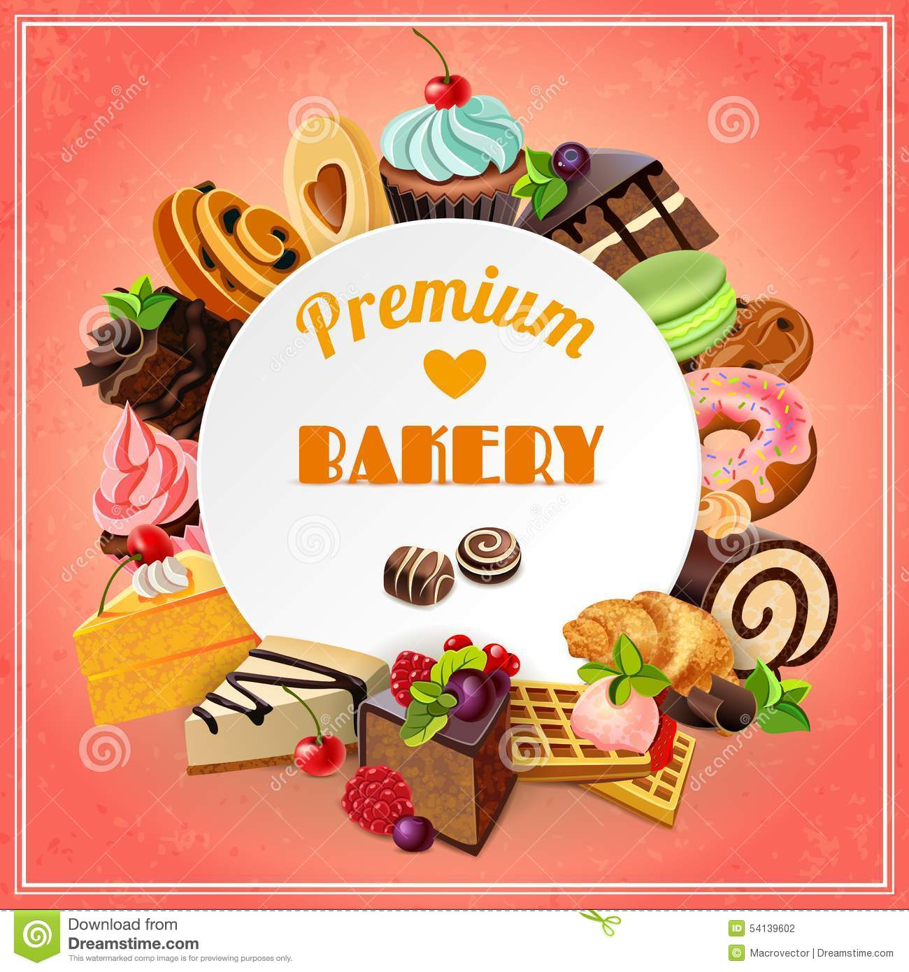 Bakery Promo Poster Stock Vector Illustration Of Cream