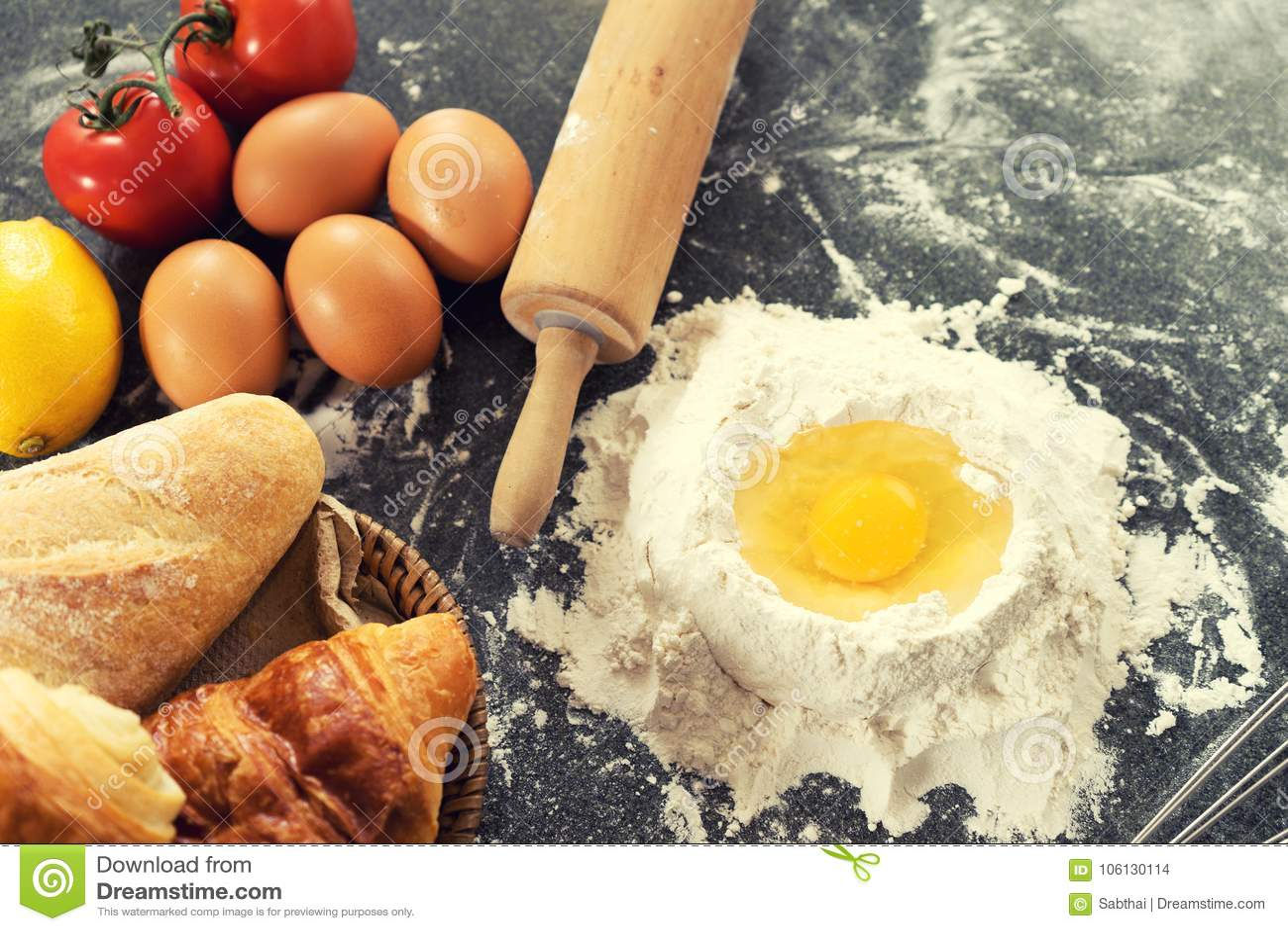 Bakery Raw Material Prepare Bake Cake Stock Photo Image