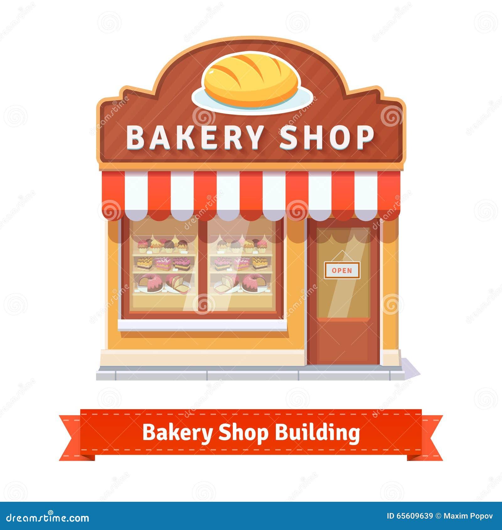 Bakery shop building f...