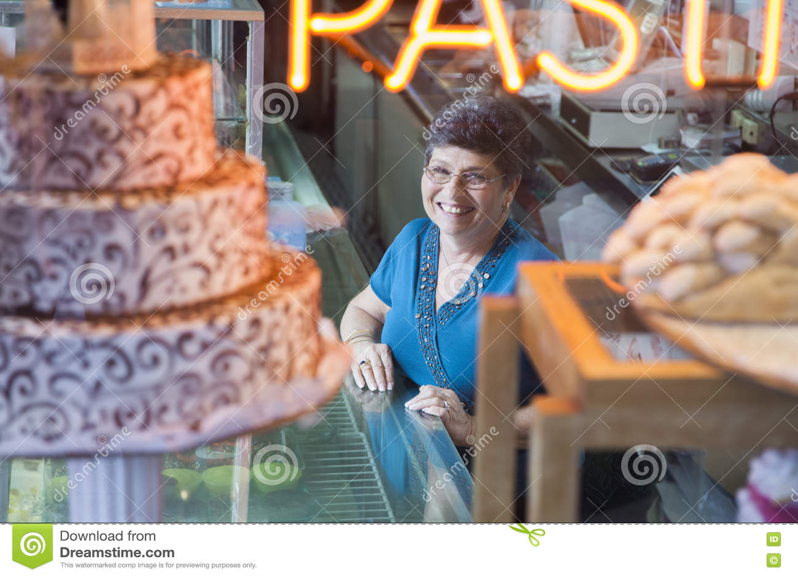 Bakery Shop Owner Royalty Free Stock Photo Cartoondealer