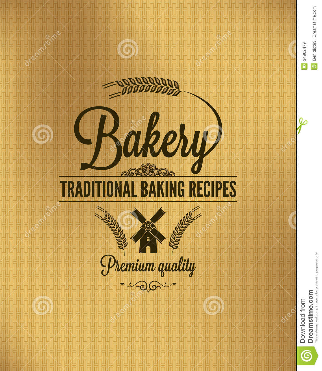 Bakery Vintage Bread Label Background Royalty Free Stock