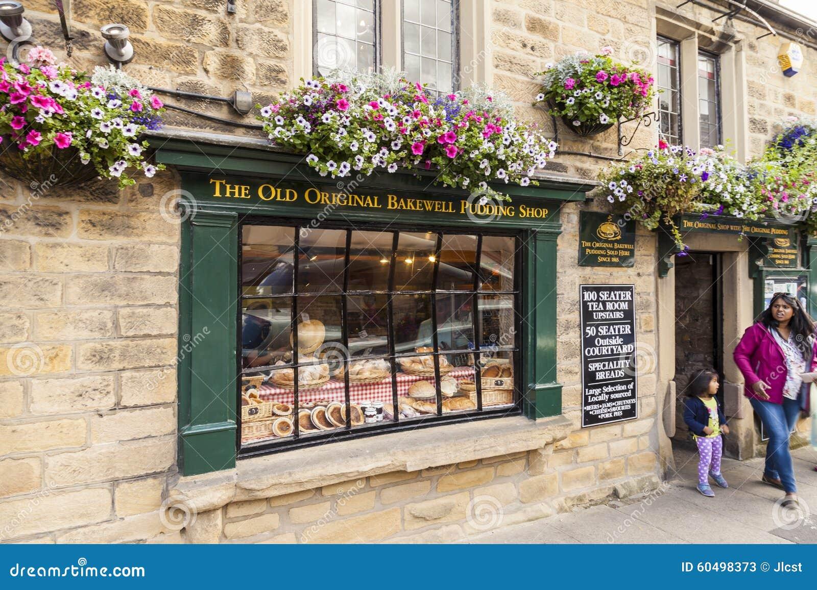 Bakewell, Derbyshire, England - 19. Juli 2015: Der alte ursprüngliche Bakewell-Pudding-Shop, Bakewell Derbyshire, England, Verein