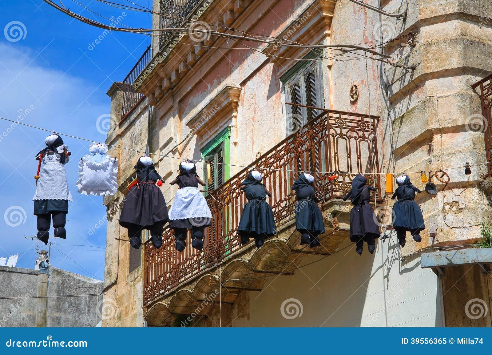 Bakgata. Montescaglioso. Basilicata. Italien.