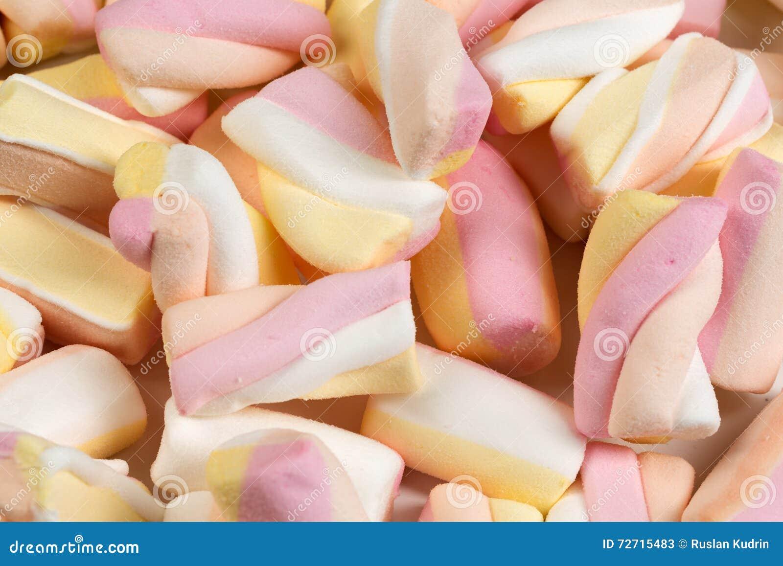 Bakgrund av de sega sötsakerna