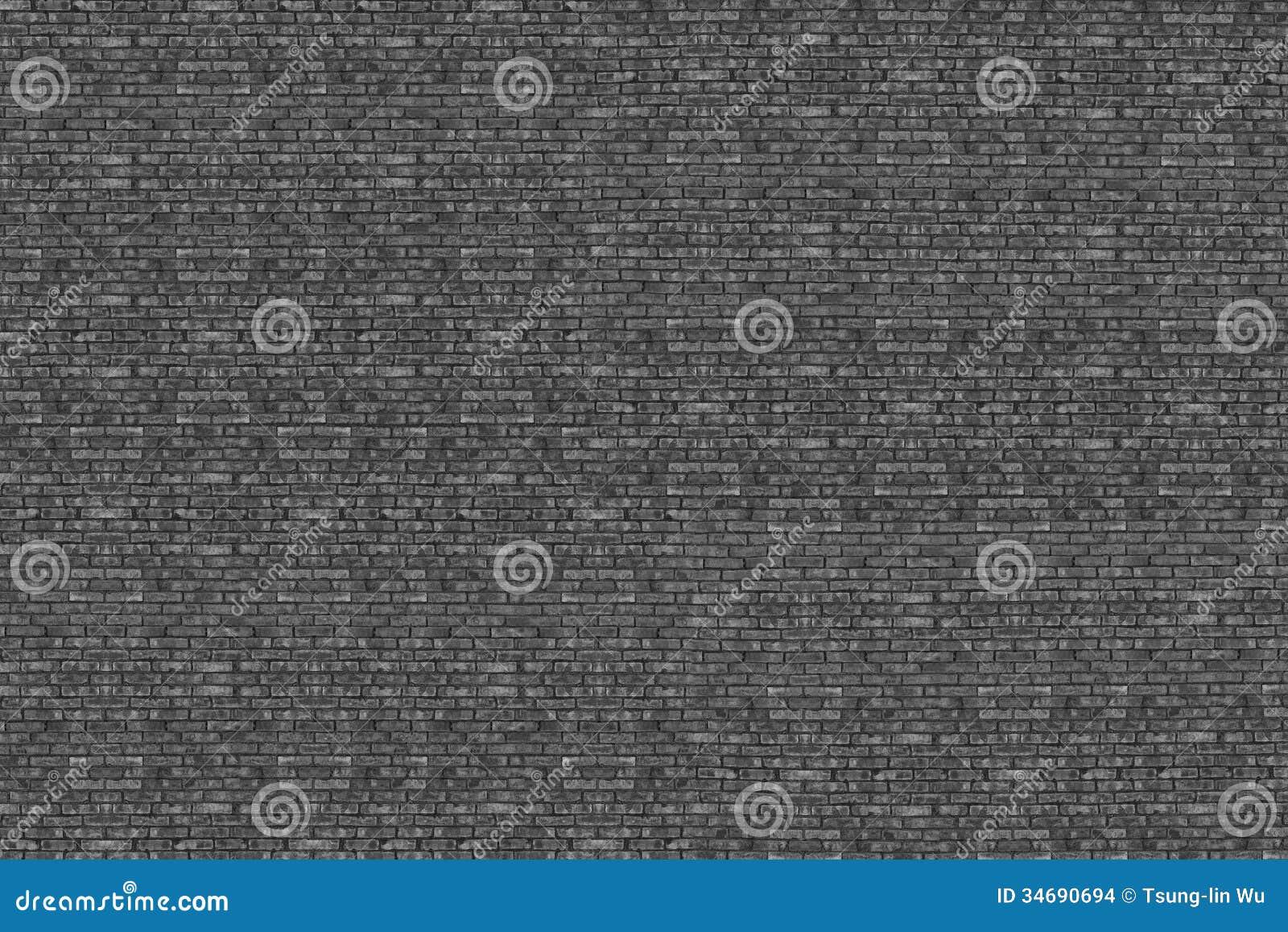 Bakgrund av hög textur för upplösningstegelstenvägg i svart och wh
