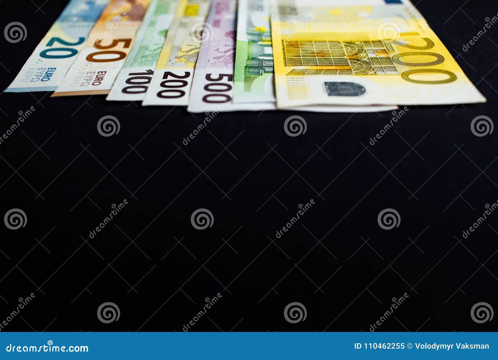 Bakgrund av pengarna Euro och dollar