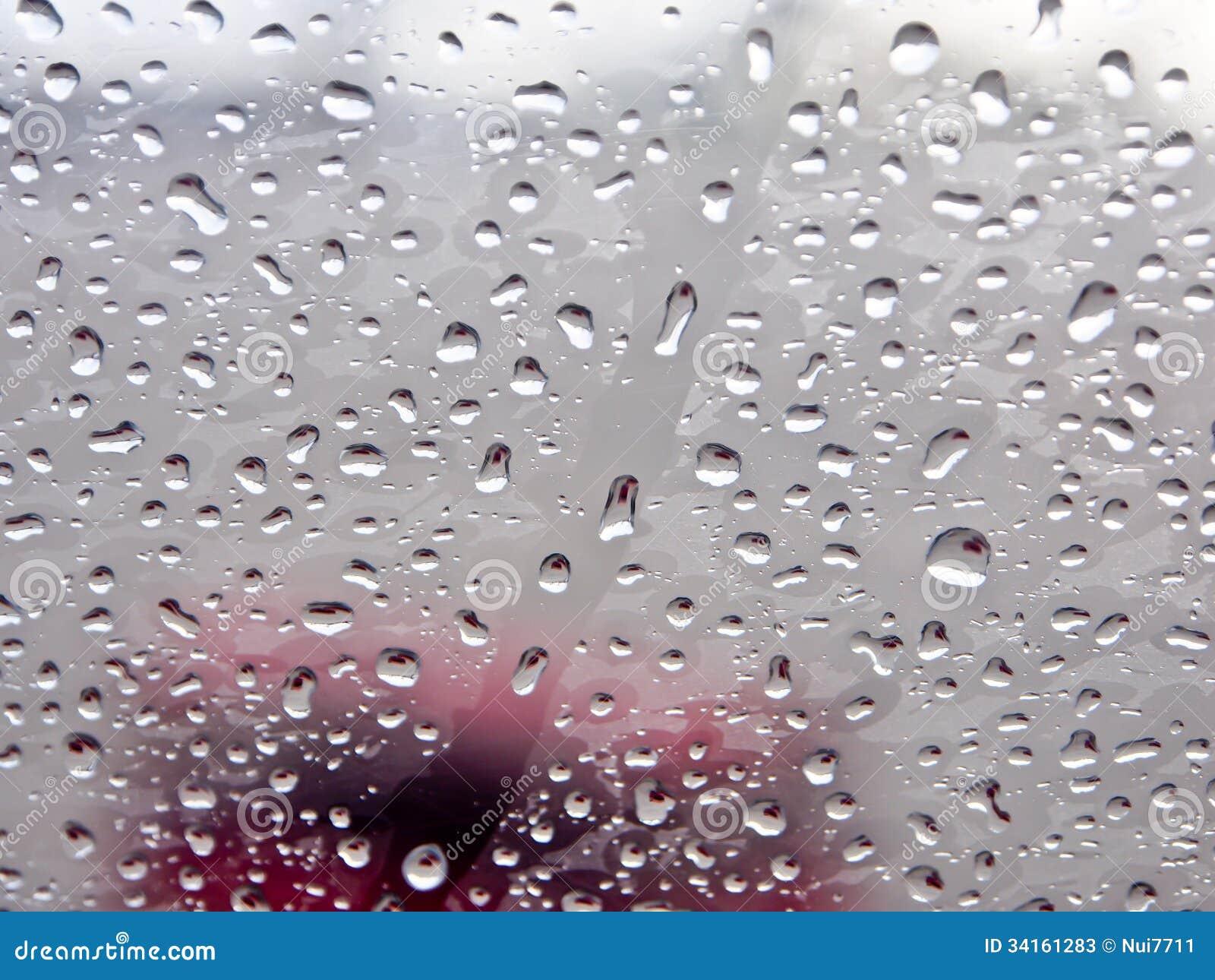 Bakgrund av regndroppar