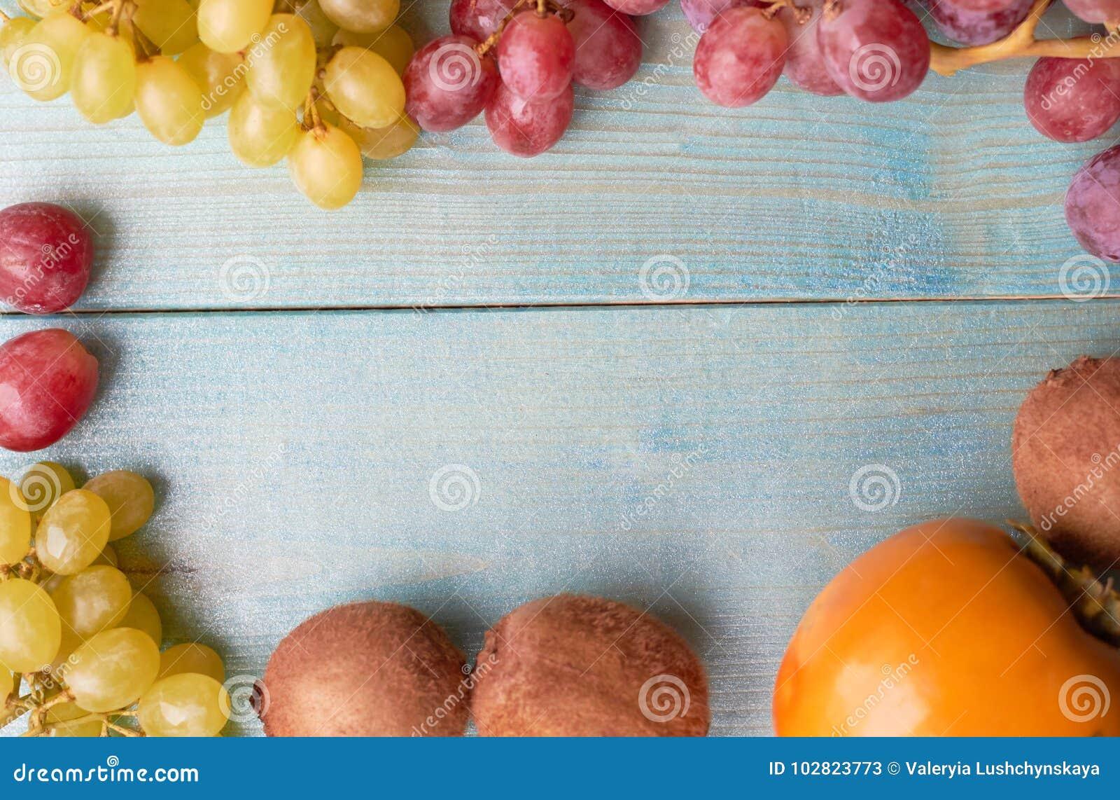 Bakgrund av saftiga frukter