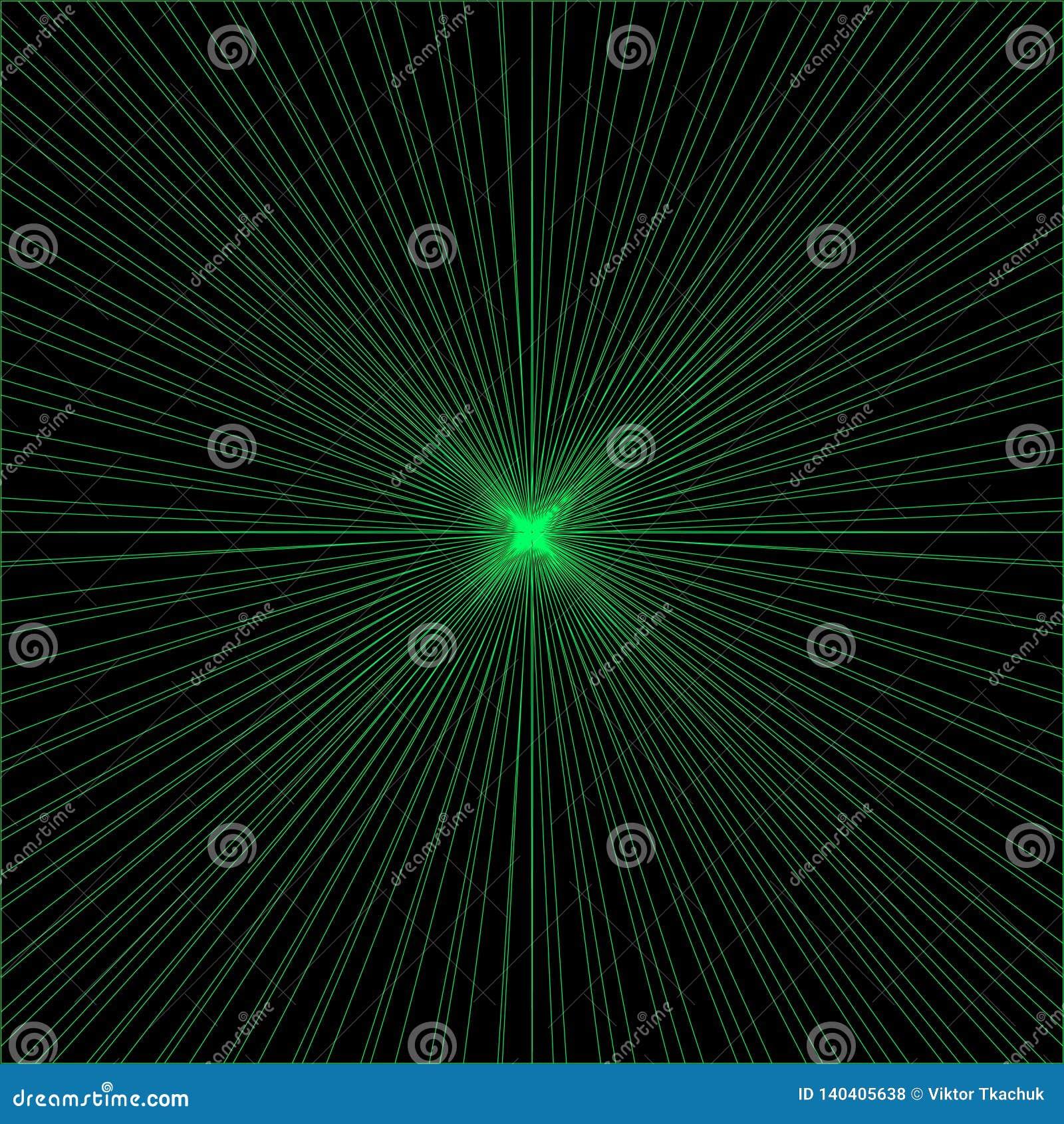 Bakgrund av strålar
