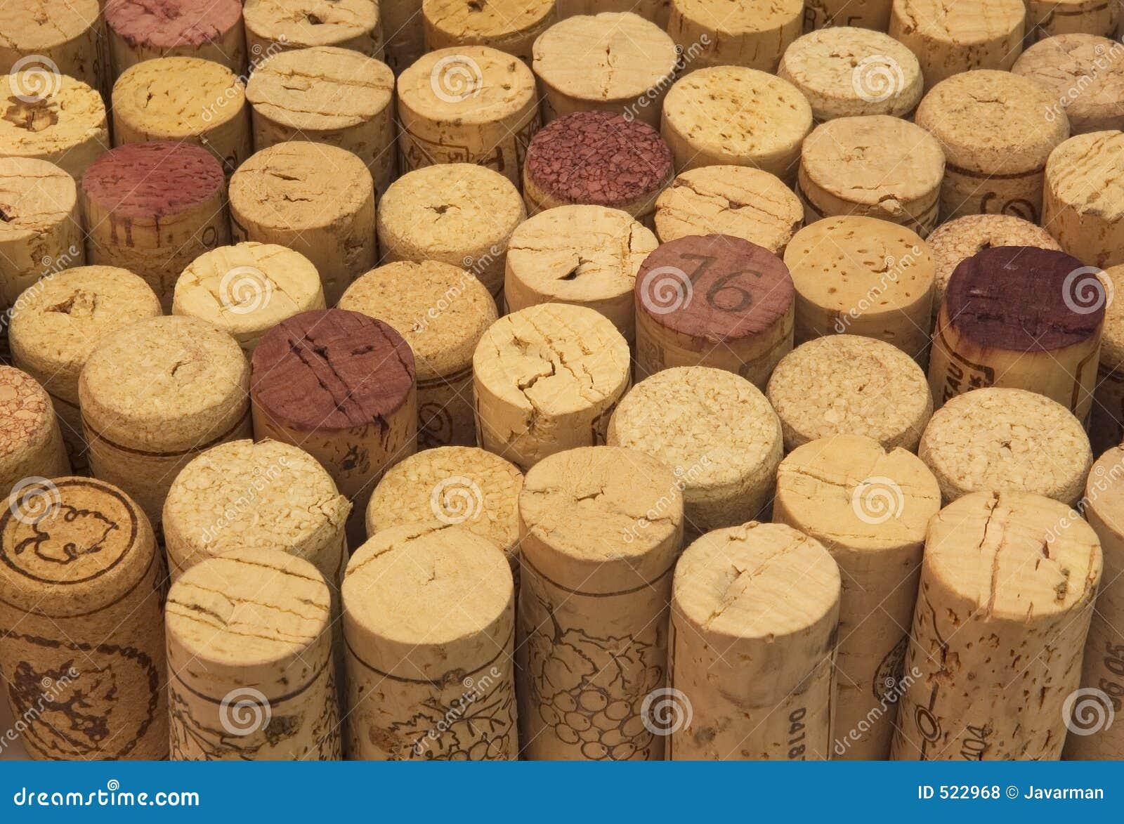 Bakgrund av winekorkar