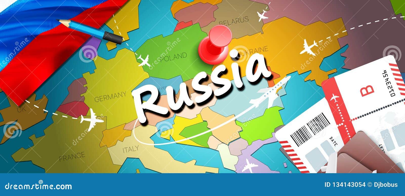 Bakgrund för översikt för Ryssland loppbegrepp med nivåer, biljetter BesökRyssland lopp och turismdestinationsbegrepp Ryssland fl