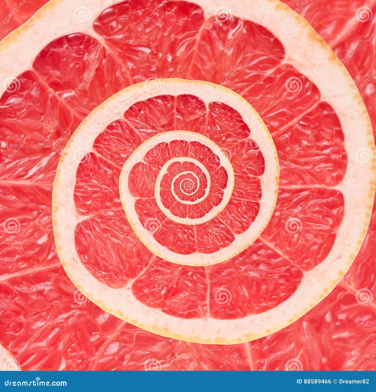 Bakgrund för abstrakt begrepp för grapefruktoändlighetsspiral