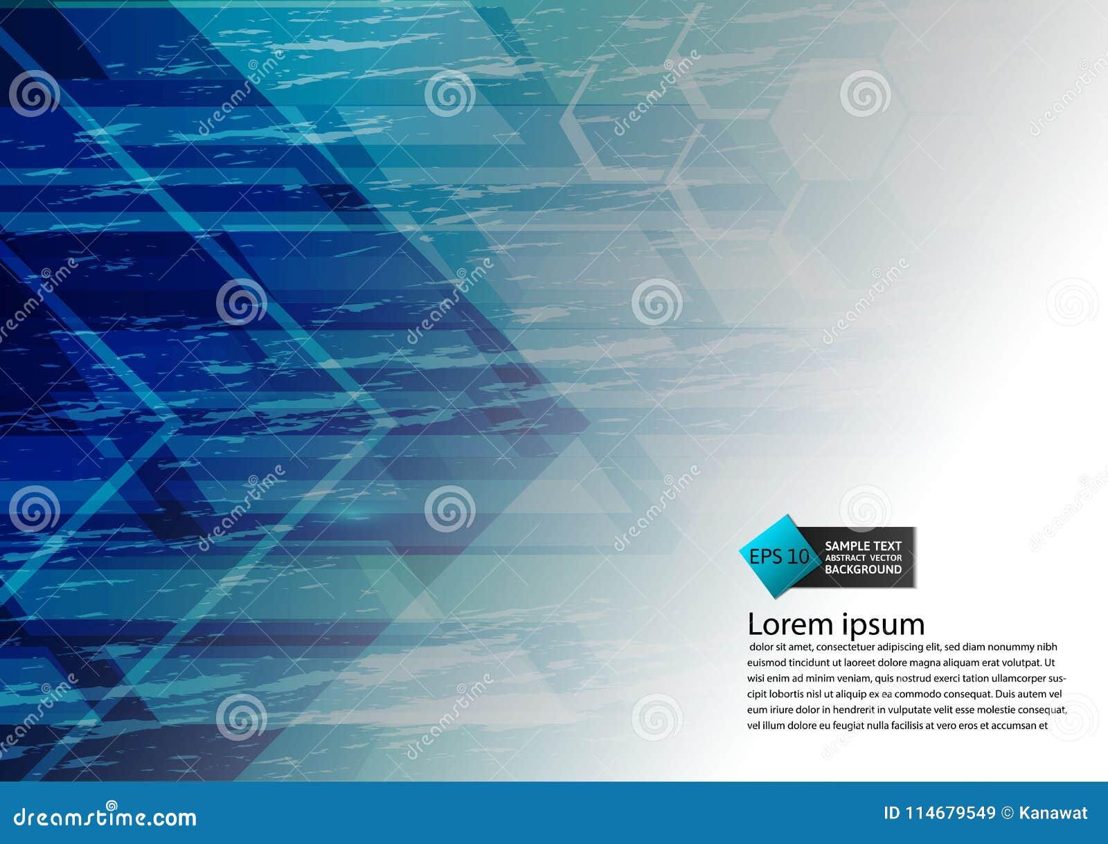 Bakgrund för abstrakt begrepp för modern design för blå färg geometrisk med kopieringsutrymme, vektorillustration