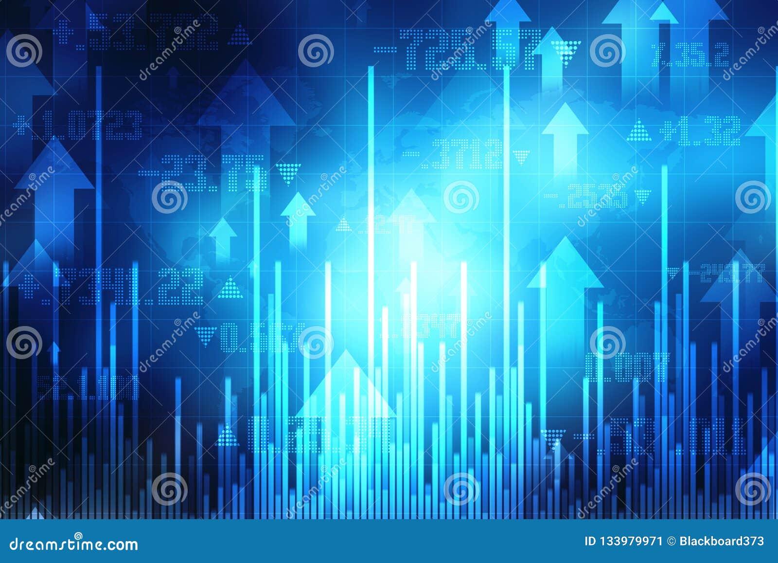 Bakgrund för affärsgraf, aktiemarknaddiagram, finansiell bakgrund