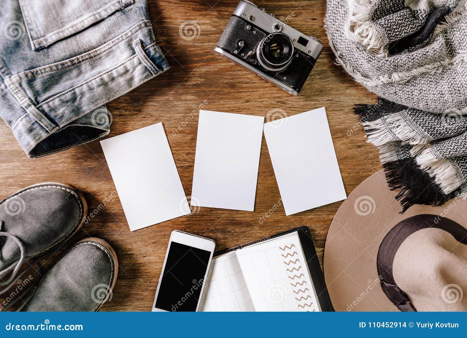Bakgrund för anteckningsbok för telefon för jeans för hattkameratröja