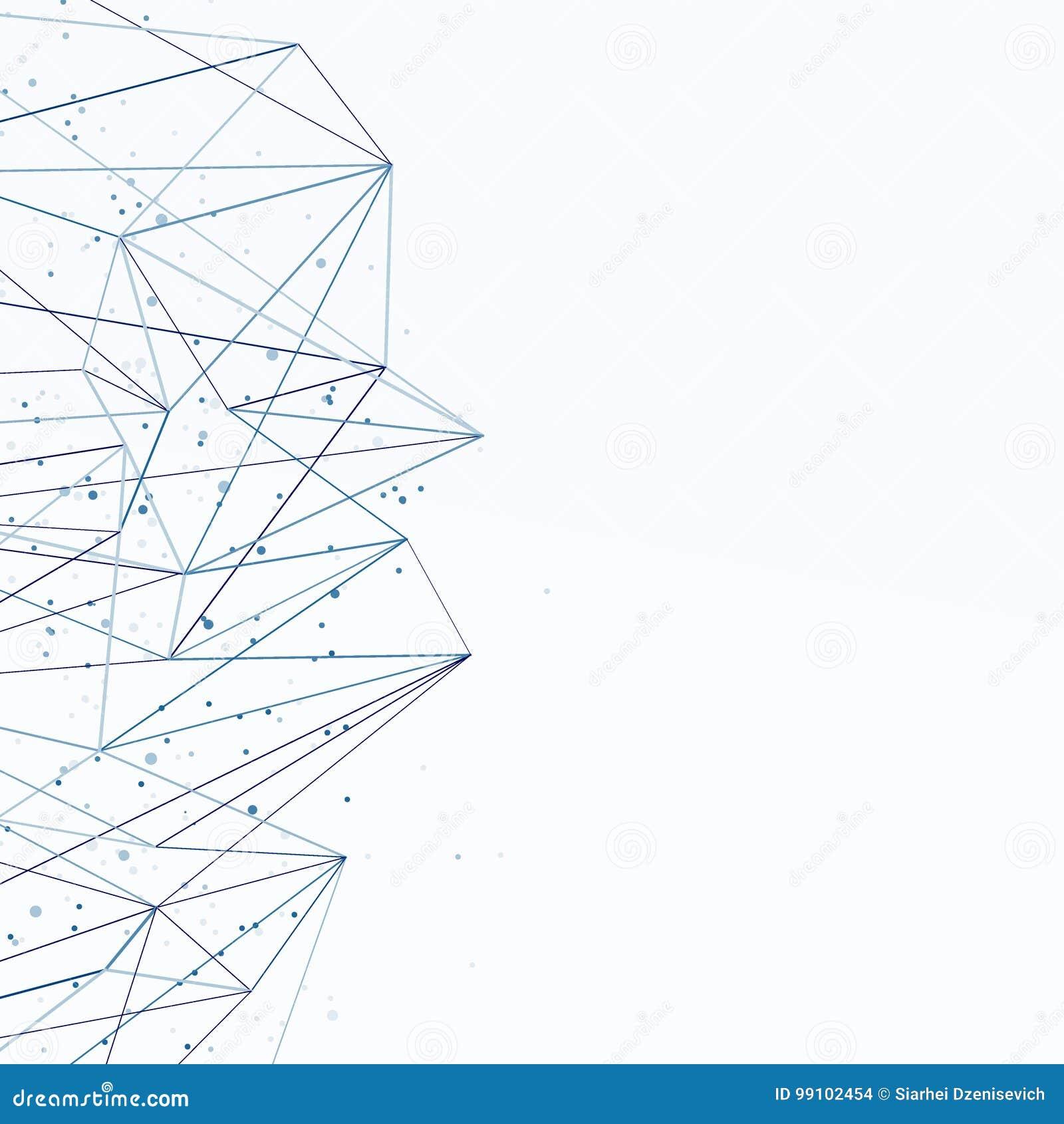 Bakgrund för blått för abstrakt begrepp för nätverksanslutning begreppsmässig Communic