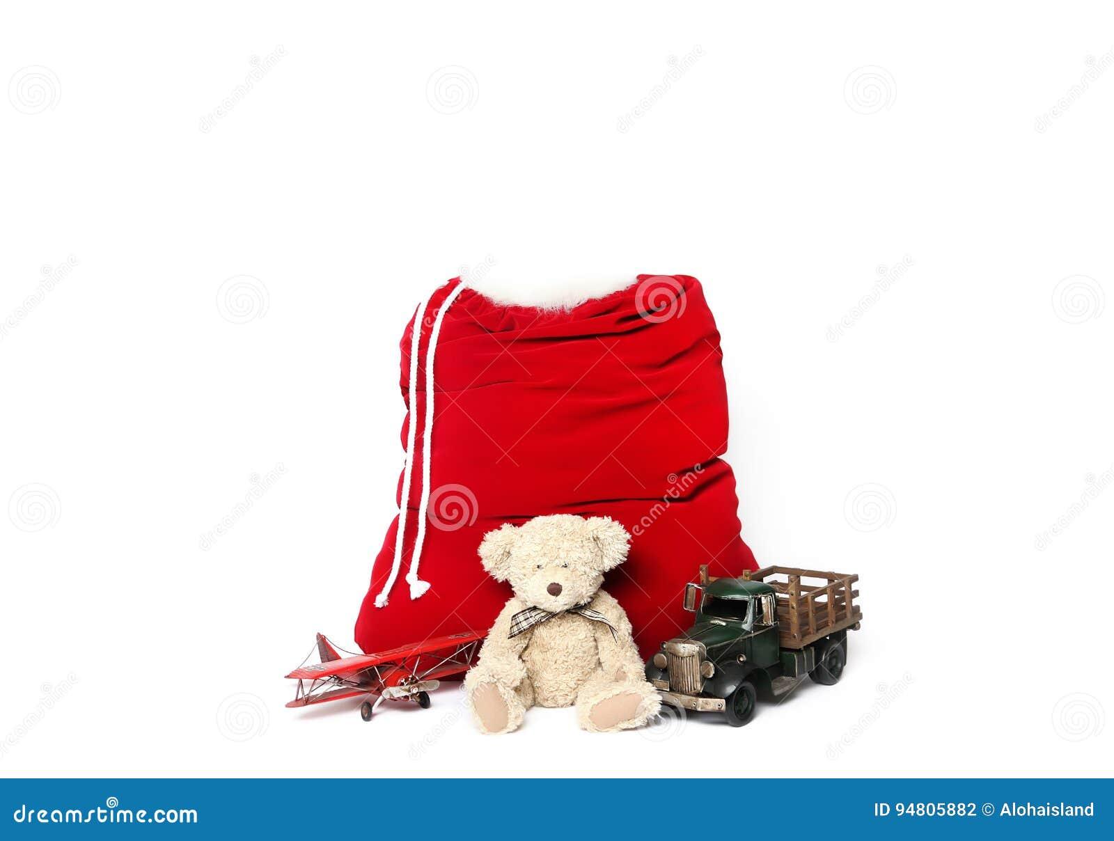Bakgrund för Digitalt fotografi av isolerade Santa Christmas Holiday Bag