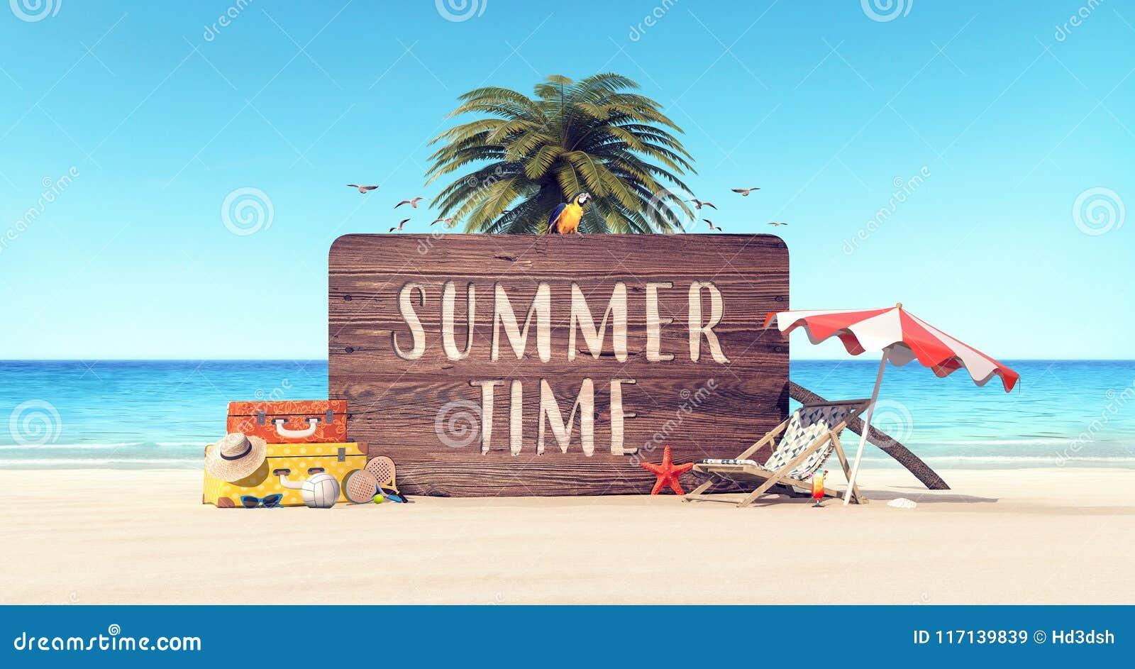 Bakgrund för ferie för sommartid
