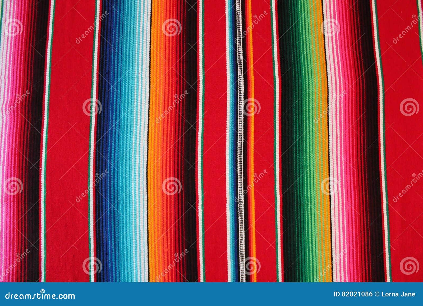 Bakgrund för fiesta för poncho för filt för Mexico mexicansk traditionell cincode mayo med band