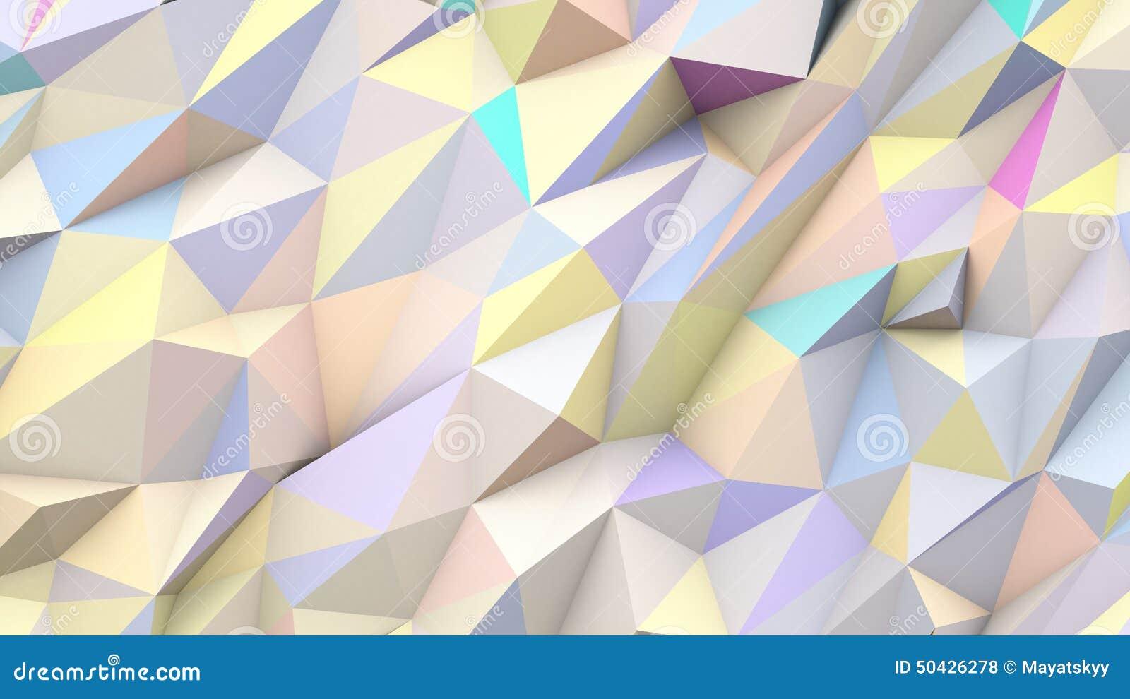 Bakgrund för form för abstrakta färger för trianglar för pastell poly geometrisk