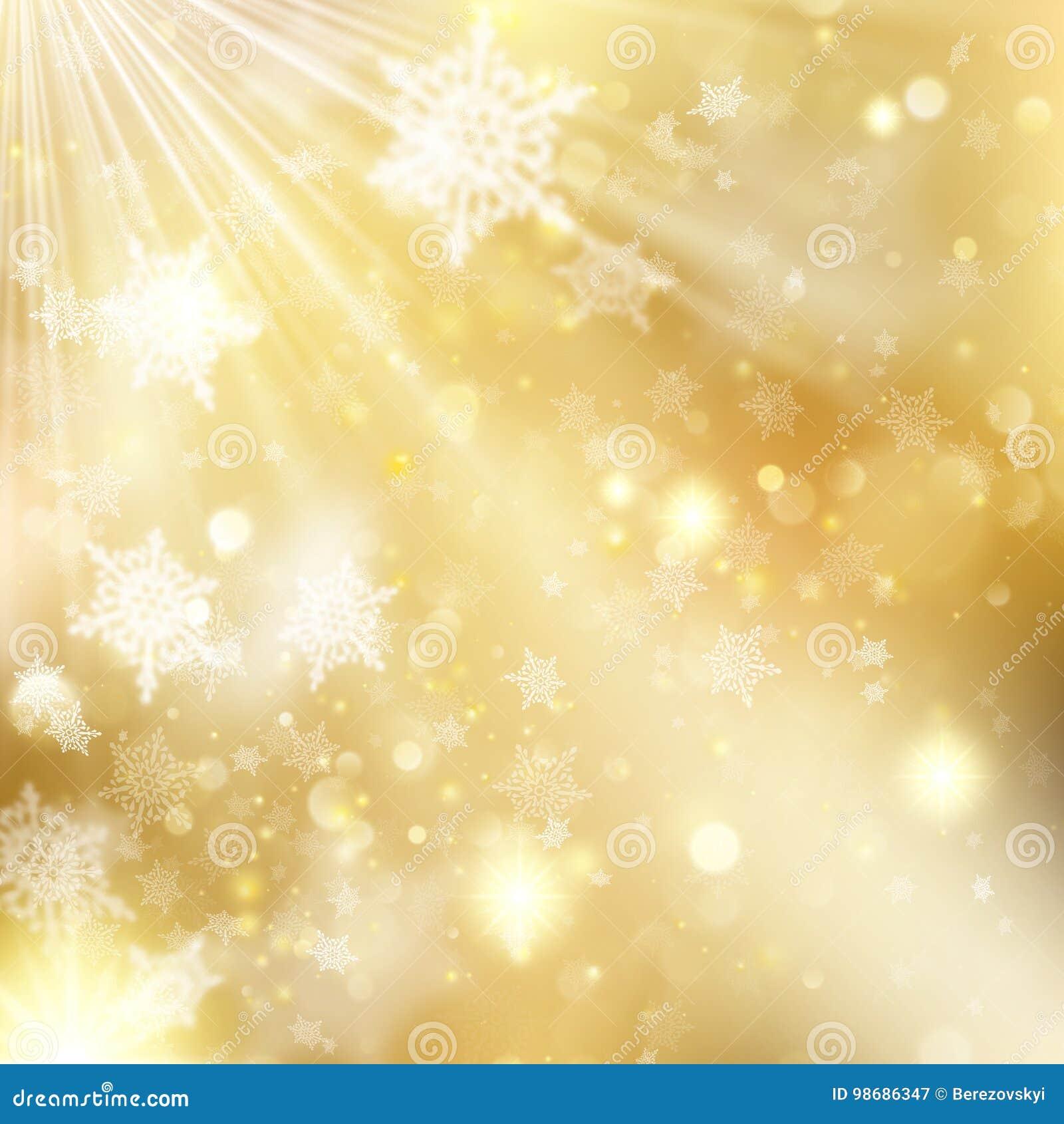 Bakgrund för guld- ferie för jul glödande Vektor för EPS 10