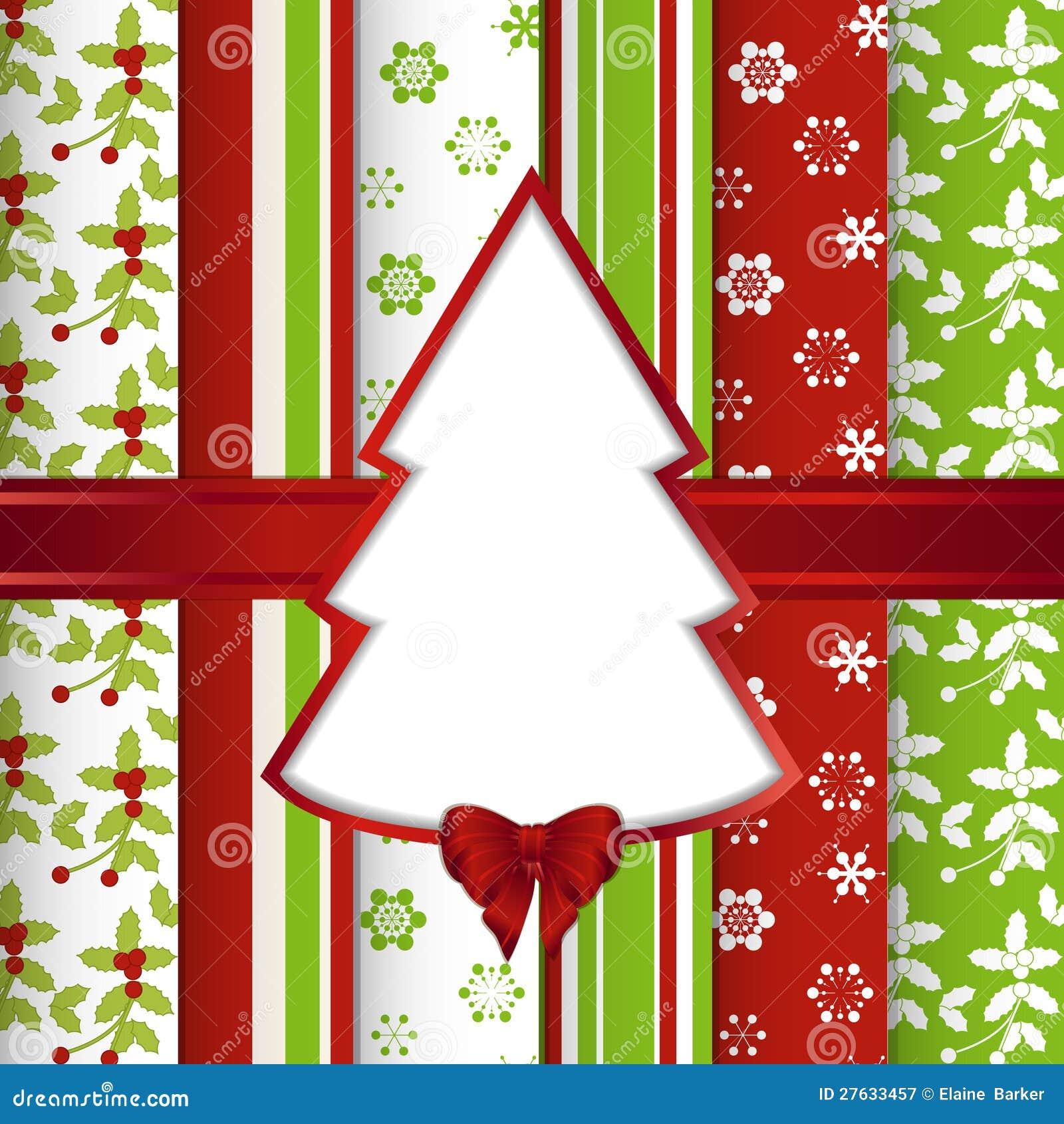 Bakgrund för julrestbok med för snitt treen ut