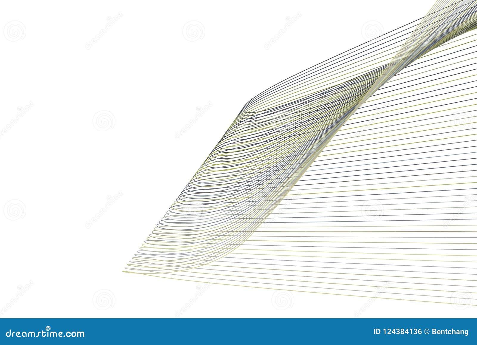 Bakgrund för konst för färgabstrakt begrepplinje & för geometrisk modell för kurva generativ Design, teckning, stil & idérikt