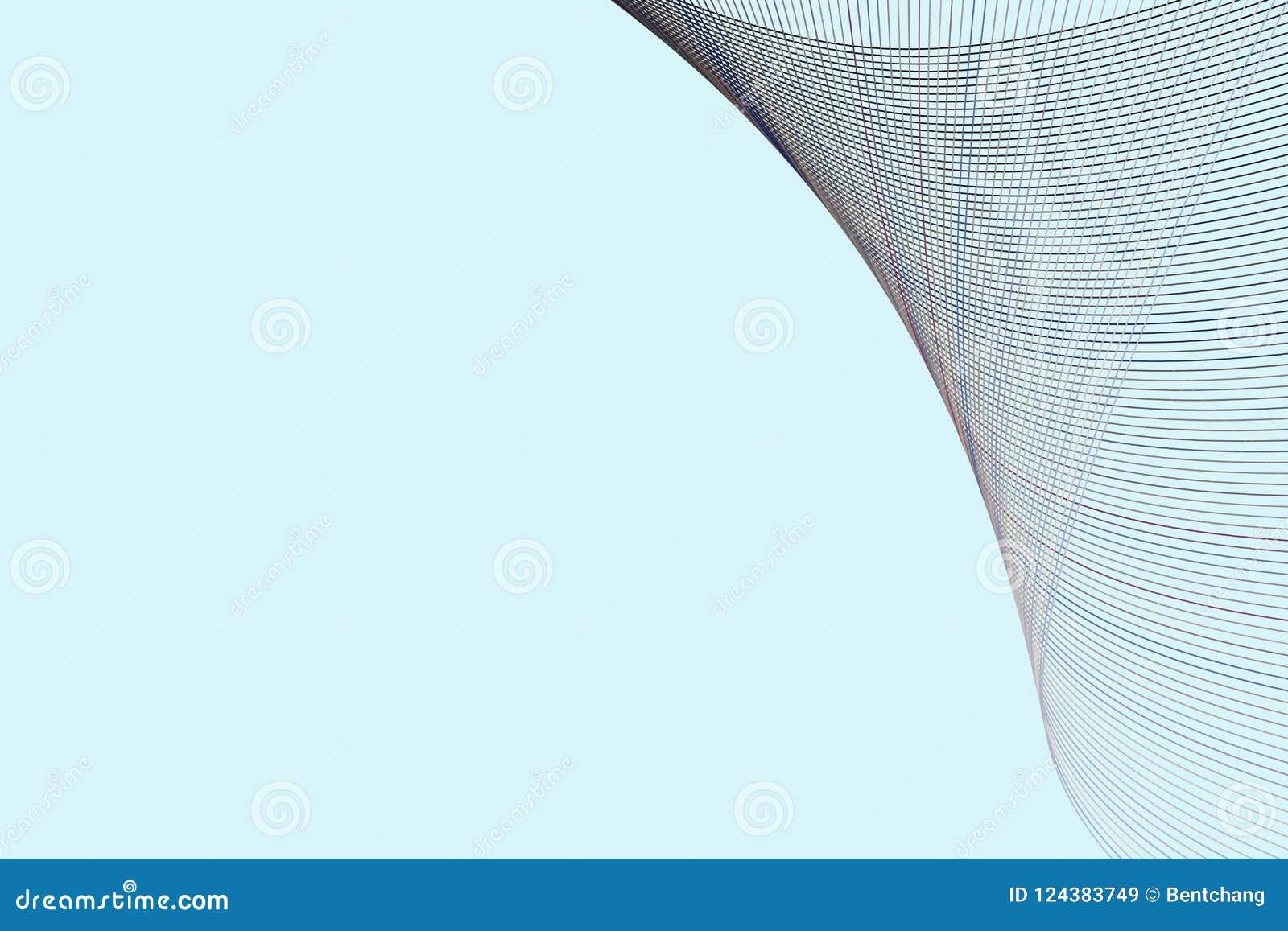 Bakgrund för konst för färgabstrakt begrepplinje & för geometrisk modell för kurva generativ Effekt, form, idérikt & begrepp