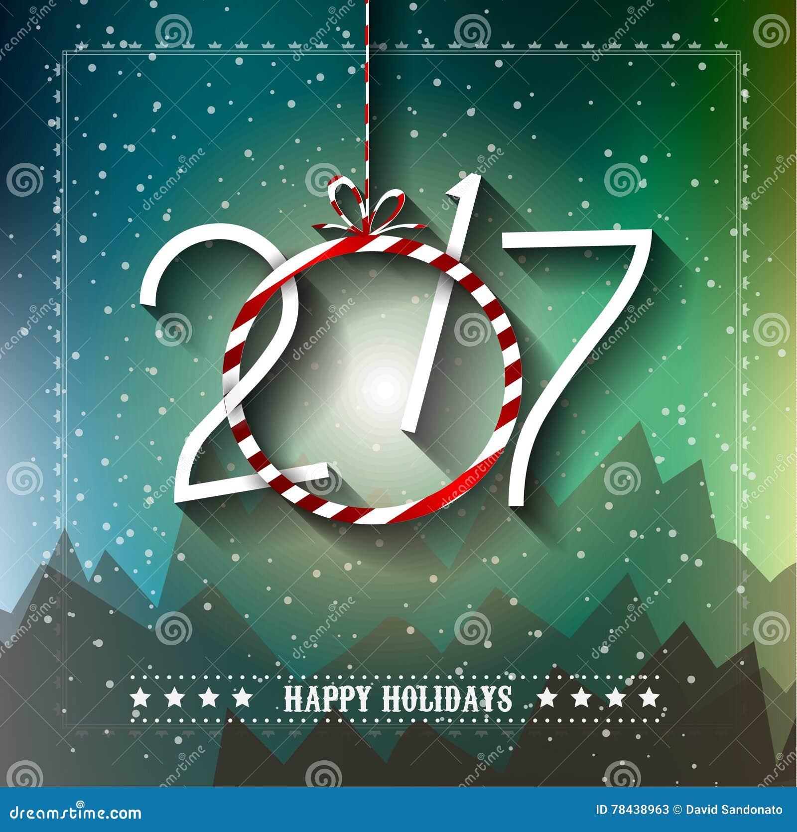 2017 bakgrund för lyckligt nytt år för dina säsongsbetonade reklamblad