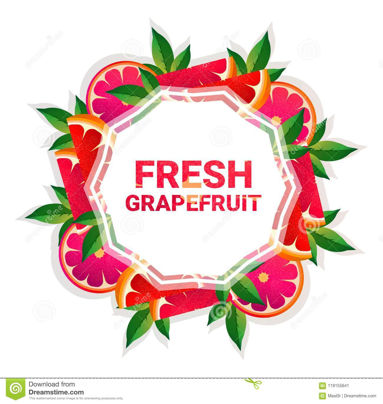 Bakgrund för modell för färgrikt för cirkel för grapefruktfrukt utrymme för kopia organisk over vit