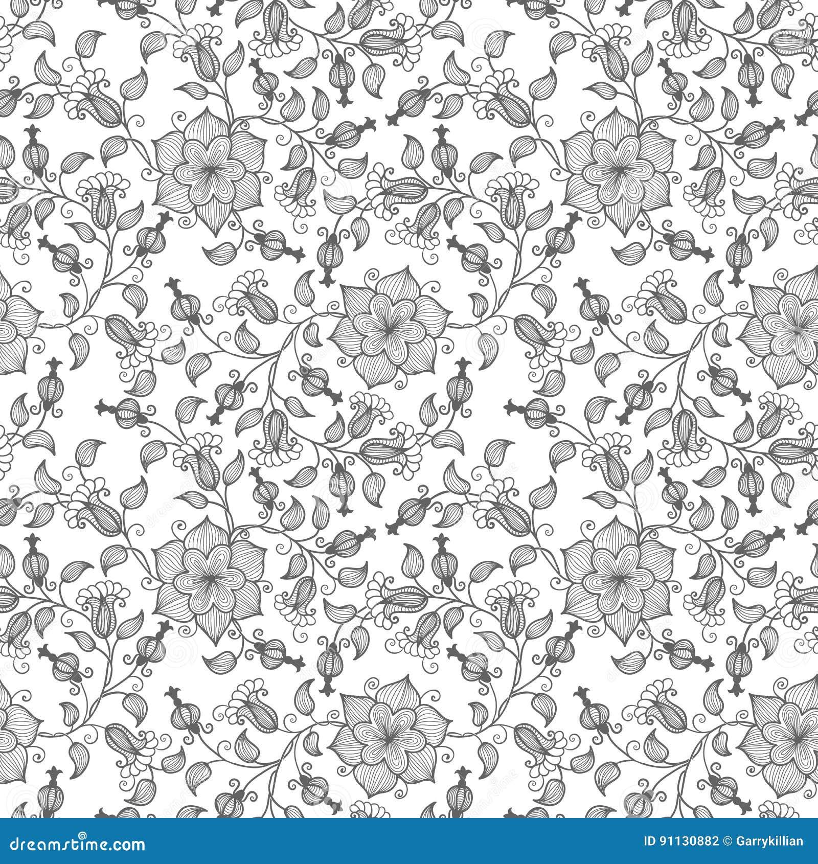 Bakgrund för modell för vektorblomma sömlös Elegant textur för bakgrunder Klassiskt lyxigt gammalmodigt blom-