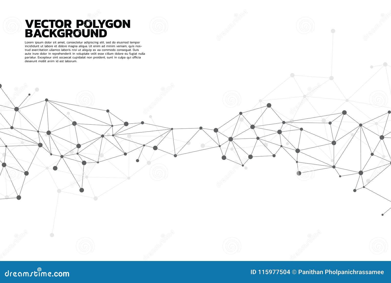 Bakgrund för nätverksförbindande prickpolygon